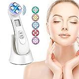 Dispositif de beauté ultrasonique,5in1 dispositif multifonctionnel de beauté faciale,6 Modes Ultrasonique LED Lumière Appareil de Beauté Mésothérapie de Appareil de Massage
