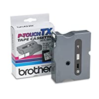 Brother P-Touch - TX Tape Cartridge for PT-8000, PT-PC, PT-30/35, 3/4w, Black on White TX-2411 (DMi EA by Brother