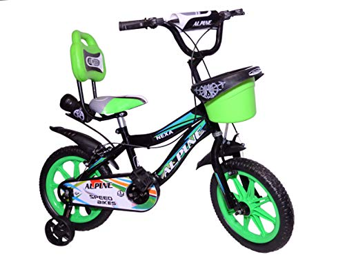 Alpine cycles14T Inch BMX Green Black Unisex Kids Steel Frame Cycle...