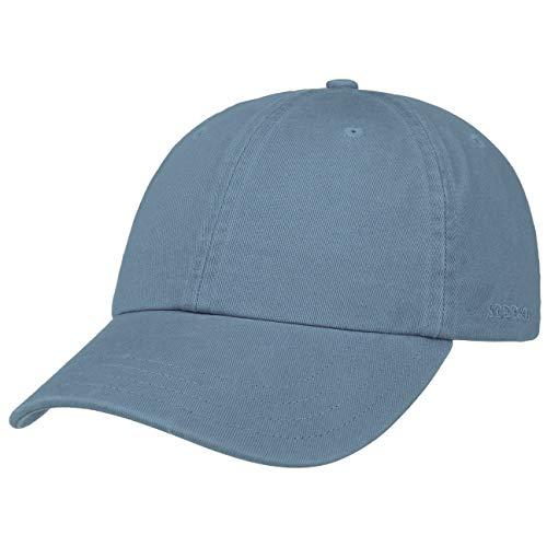 Stetson Rector Basecap - Cap für Damen/Herren - Sonnenschutz-Cap aus Baumwolle (UV-Schutz 40+) - Baumwollcap größenverstellbar (55-60 cm) - Baseballcap Sommer/Winter blau One Size