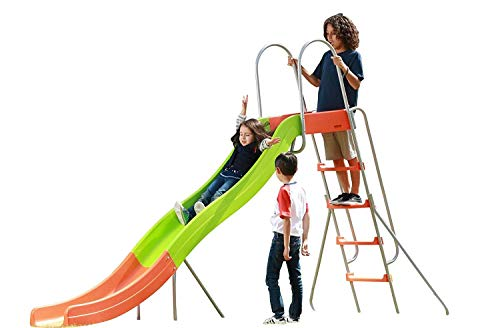 Outdoor Play Set Kids Slide: 10 ft Freestanding Climber, Swingsets, Playground Jungle Gyms Kids Love – Above Ground Pool Slide for Summer Backyard