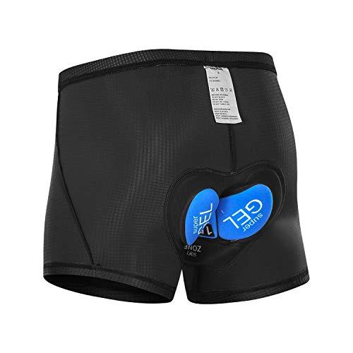Lixada Radunterhose Herren Fahrrad Unterwäsche mit Atmungsaktive 3D/5D Hohen Dichte Gepolstert Sitzpolster MTB Radfahren Unterwäsche
