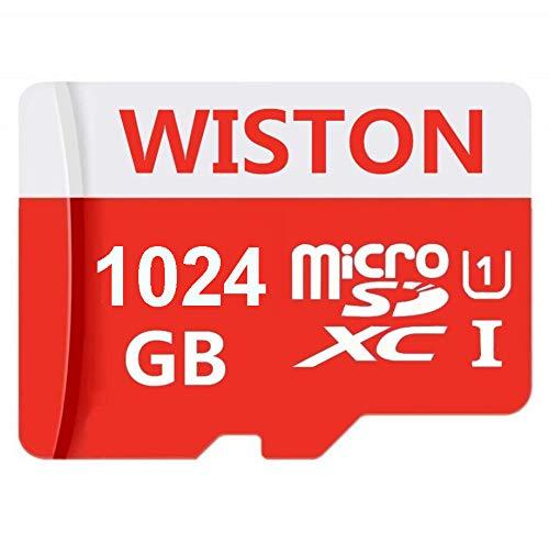 Micro memoria Class 10 SDXC Card 1024 GB Micro SD Card C10 Tarjetas de memoria TF Card Transflash con adaptador SD para teléfono o cámara (1024 GB)