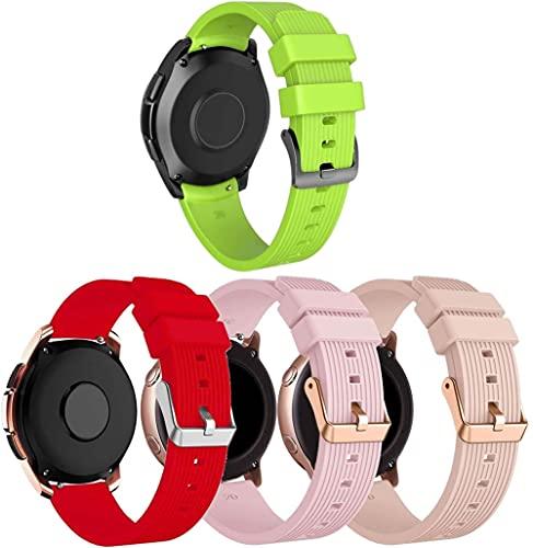 Gransho Repuesto de Correa de Reloj de Silicona Compatible con Withings Steel HR Sport 40mm / Steel HR 40mm / ScanWatch 42mm, Caucho Fácil de Abrochar para Relojes y Smartwatch (20mm, 4-Pack J)