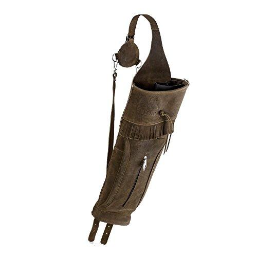 Carcaj con correa trasera para flechas, carcaj tradicional con bolsa grande