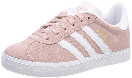 Adidas Gazelle J, Zapatillas de Gimnasia Unisex Niños, Rosa (Icey Pink F17/Ftwr White/Gold Met. Icey Pink F17/Ftwr White/Gold Met.), 38 2/3 EU