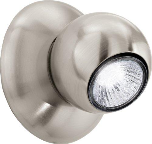 Eglo 1 Halogen-Stahl-Wohnraum-Wand-Decken-Leuchte / Innenbereich / Norbello / Chrom / 12.0 x 10.0 cm / incklusiv Leuchtmittel / GU10 / 1 x 50 W 91609