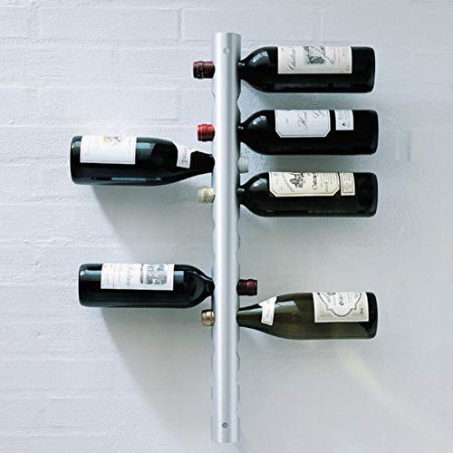 Estante para Vino de Acero Inoxidable, Estante para Vino montado en la Pared, estantes para Vino, Soporte para Vino montado en la Pared, para Herramientas para Beber, Barra de Cocina para