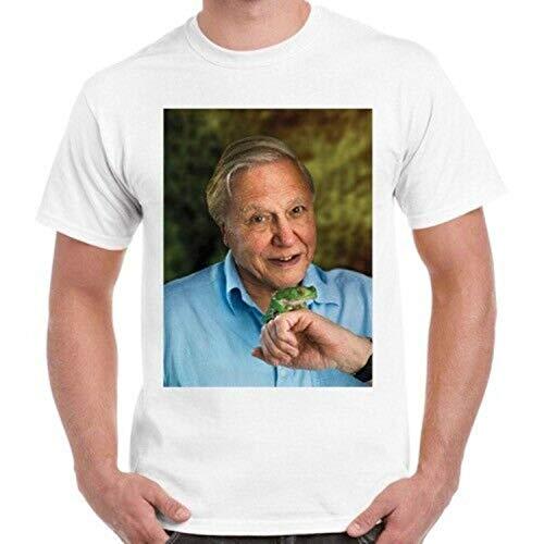 JONES DIY David Attenborough Cool Vintage Unisex Retro T Shirt,Men (Unisex),S