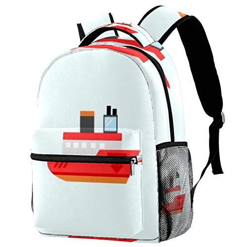 Sea Cruise Travel Laptop Backpack, Casual Durable Backpack Daypacks for Men Women for Work Office College Students Business Travel Schoolbag Bookbag