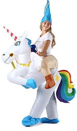 Inflatable Costume for Women Unicorn Wings Rider, Inflatable Halloween Cosplay Party Costumes/Blow up Costumes Adult/Women/Men/Girls