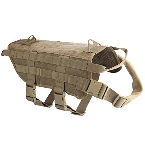 F Fityle Tactical Military Molle Service Hundegeschirr Polizei Eckzahn Harness Vest - Schlamm Grün, M