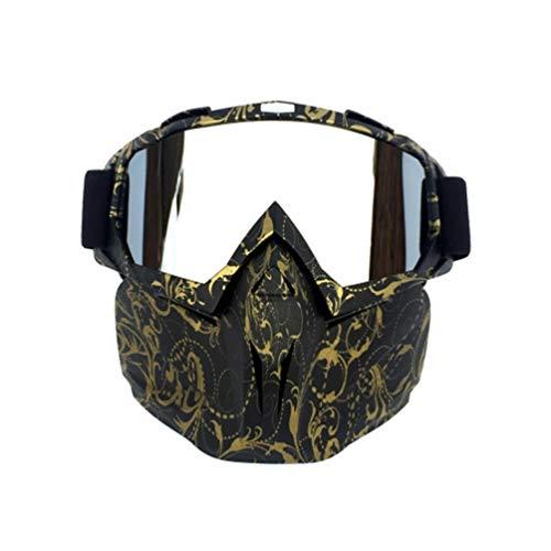 XGYUII Motorrad-Schutzbrille-Ski Snowboard-Maske mit abnehmbarem Maske-Ski-Brillen Snowboard-Schutzbrillen Sport-Sonnenbrille für Jethelm Motocross,B
