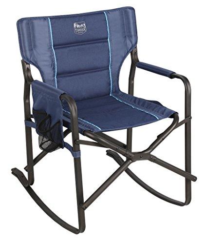 Timber Ridge Acacia Rocking Director's Chair, Blue
