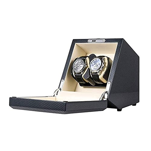 Enrollador automático de reloj de regalo de cumpleaños para el día del padre, 2 posiciones de mesa agitadora, interruptor táctil de cuerda automática, motor silencioso con cerradura y llave, apto para