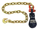 2 Ton Snatch Block w/Chain Flatbed Tow Truck Rollback Wrecker Car Carrier Cable