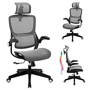 【Adjustable Seat Height,Backrest Tilt & Headrest】Adjust to the most suitable height and angle, freely switch between work and rest modes. The seat height can be easily adjusted up and down within 3.6 inches. Pull the adjustment lever outward to tilt ...