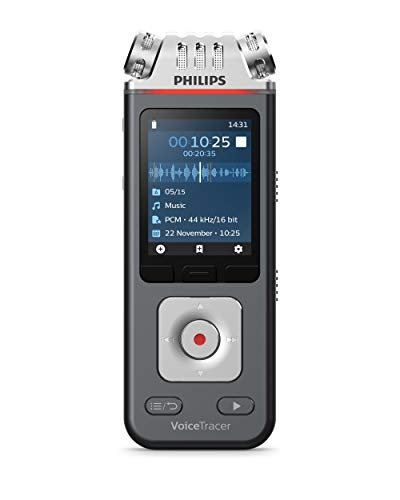 Philips VoiceTracer DVT7110, Registratore audio Con kit di ripresa video, Audio eccezionale, video più apprezzati