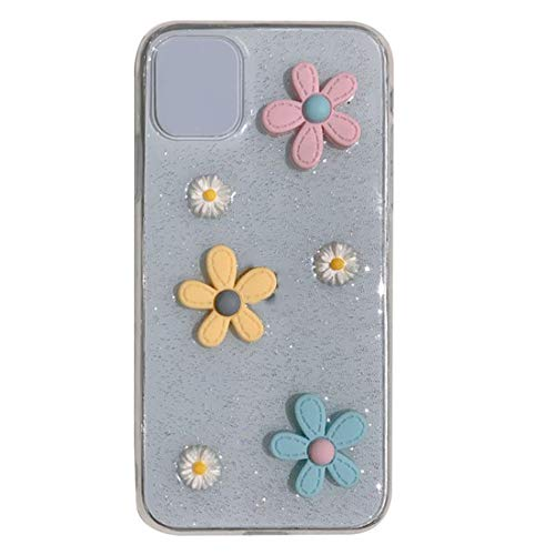 Mogzank Cute Daisy Flower Phone Case for Soft Epoxy Clear Phone Back Cover Cases, for 11
