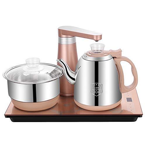 Elektrothermisch Tea Infusers Volautomatische Water Electric Kettle Koken van het Huis Water Bottle Pompen Elektrische thee fornuis Set (Stainless Steel Gold) De beste uitrusting for thee
