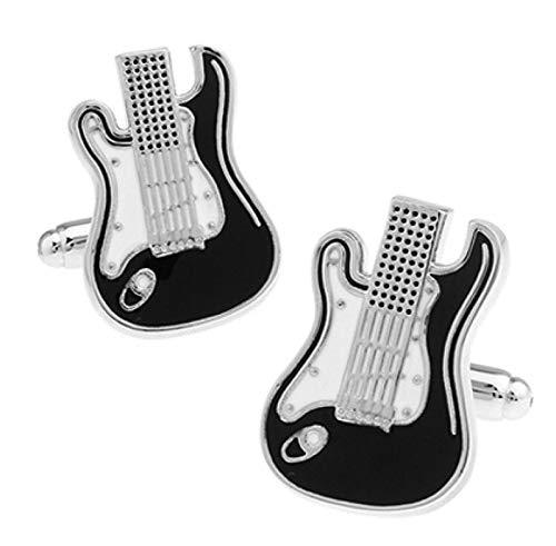 Zyuan Guitar Cufflinks Black Music Design Copper Cufflinks Cufflinks Knots For Men Cufflinks Gift Set For Men ShanDD (Color : IS)
