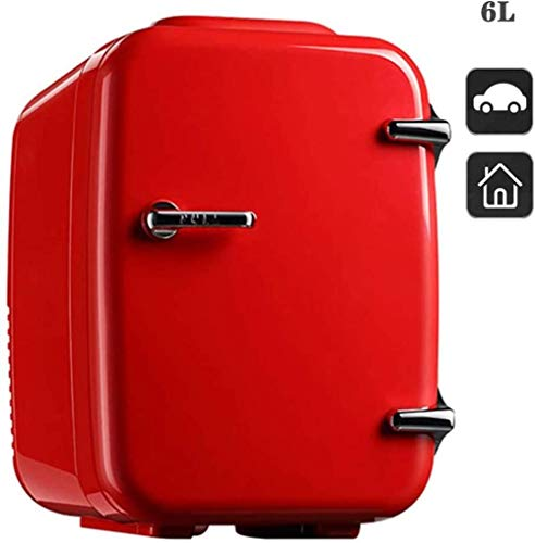 XUHRA 4L Mini refrigerador del refrigerador y cálido Nevera de semiconductores electrónicos refrigerador de Alimentos Cosméticos Personal para su Coche,Red