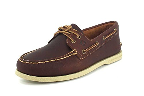 Sperry Mens A/O 2-Eye Boat Shoe, Tan Pullup, 11 (Best Way To Clean Sperry Topsiders)