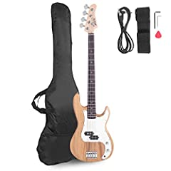 ♫【BEST GIFT FOR BEGINNER】- A perfect instrument is for emitting wonderful bass effect. It is ideal for beginners to find a reliable bass guitar. ♫【COMFORTABLE TOUCH FEELING】- This GLARRY bass guitar has standard string spacing and smooth neck, which ...