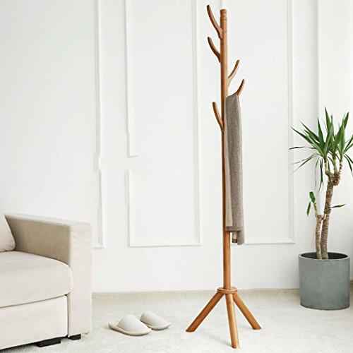 LYM Cintre Debout Coques Hat Rack Rack en Bambou, Hall Tree avec 5Hooks Stand d'affichage Simple Assembly of Coat Shelves (Couleur : A, Taille : 173 * 40CM)