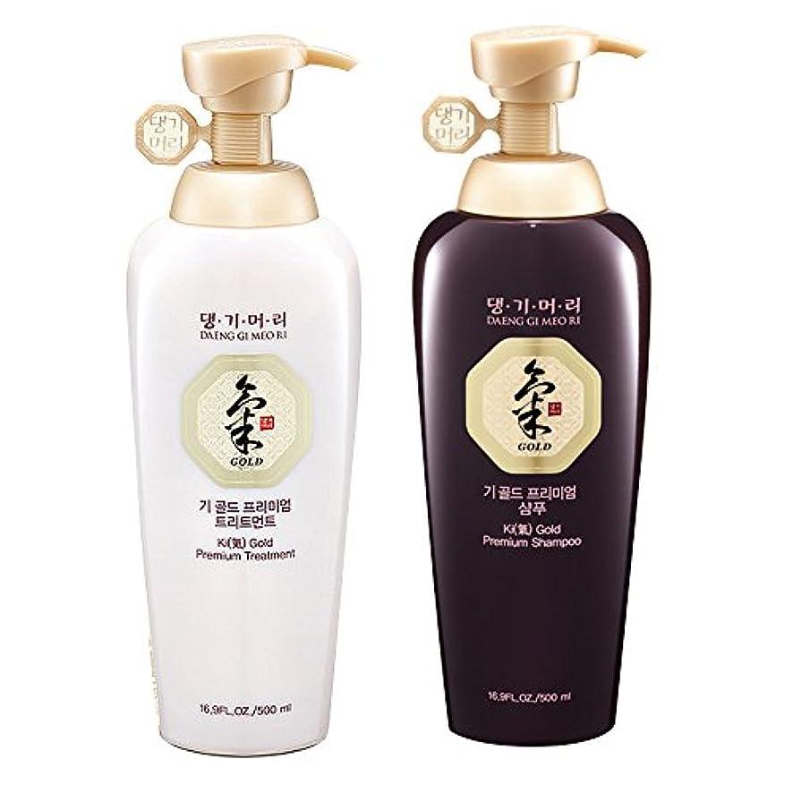 Daeng Gi Meo Ri Ki Gold Premium Shampoo + Treatment Set (500ml) for Hair Loss, Thin Hair, Gray Hair Prevention and Treatment, Medicinal Herbal Shampoo, All Natural, Korea's No. 1 Hair Brand