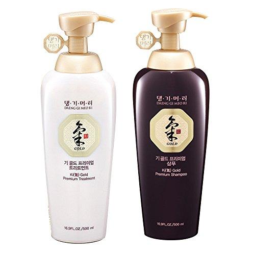 Daeng Gi Meo Ri Ki Gold Premium Shampoo + Treatment Set (500ml) for Hair Loss, Thin Hair, Gray Hair...