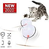 猫おもちゃ 猫じゃらし 光るボール Ledボール 電動 360° 自動回転 USB充電式 ストレス解消 運動不足解消 ベット玩具 猫用品