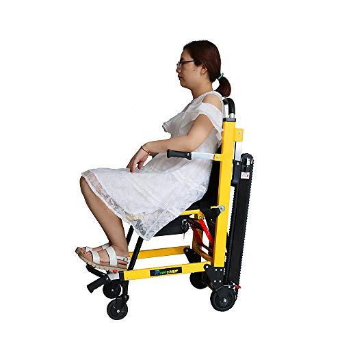 HJJH Treppenlift, Klettern Rollstuhl Electric, Raupen Stair, Polaroid-Patient/Fracht treppauf und treppab, Behindertenhilfen, kann nach Oben und unten Treppen steigen