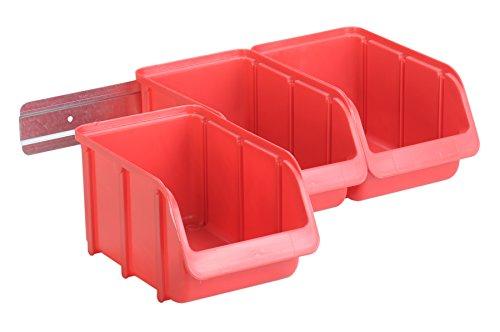 H/ünersdorff 780051 Contenitore per scaffali in PP capacit/à 6,00 Litri 0 V 0 W Largo Rot 500x183x81 mm Colore Rosso