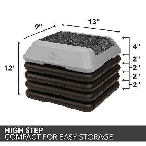 The Step High Step Aerobic Platform with High Step Grey Aerobic Platform and 4 Black Risers