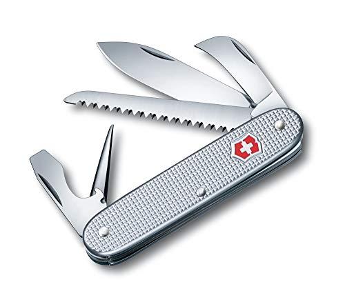 Victorinox Taschenmesser Swiss Army 7 Alox (7 Funktionen, Grosse Klinge, Holzsäge) silber
