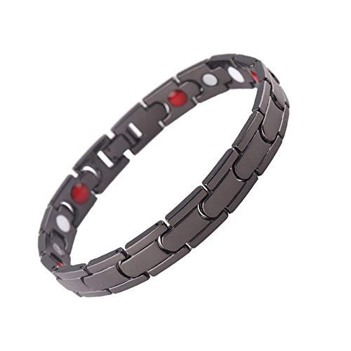 TUANTALL Magnetische Herren-Armband Heilendes Armband Abnehmen des Produkts Schmuck Anti-Cellulite Physiotherapie Körperformung Energieausgleich Bangles Abnehmen Armband