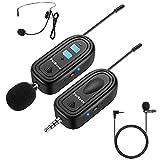 Cuffia Senza fili Sistema Mini Microfono Lavalier FerBuee Mini Microfono con Risvolto Wireless Ideale per Smartphone, Fotocamera, Altoparlante PA, Registrazione video (Y-101)