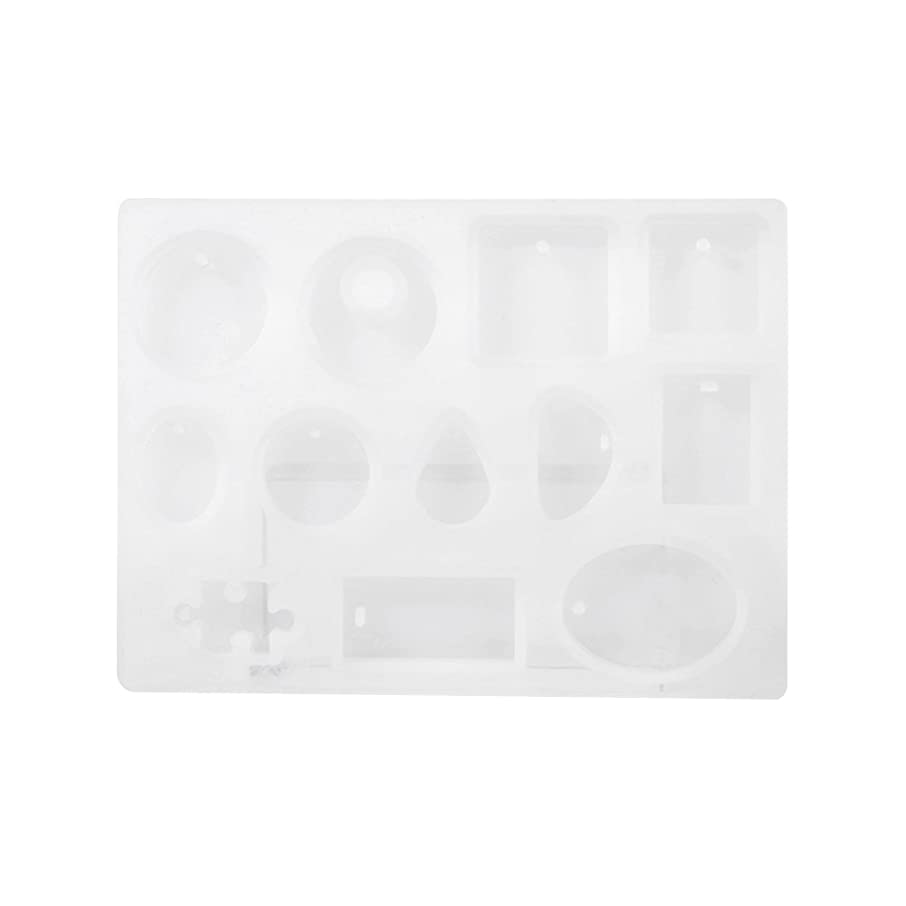 Fdit 2Pc DIY Silicone Pendant Mold Jewelry Resin Mould Handcraft Ornament Making Tools Hot