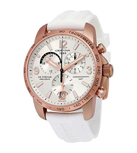 Certina DS Podium Silver Dial Aluminum White Rubber Men's Watch C0016399703701