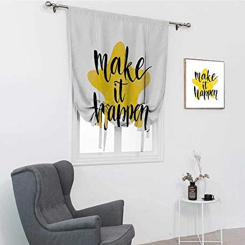 Cortinas motivacionales para puerta de patio, lema instructiva, fondo amarillo, diseño de...