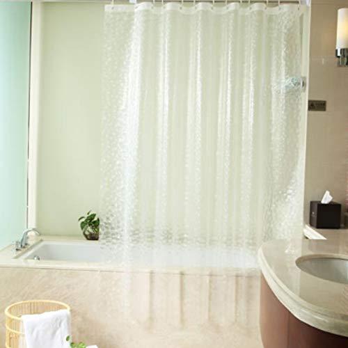 Trintion Duschvorhänge 3D Transparent Wasserwürfel Duschvorhang Wasserdicht transparenter Schimmel Antibakteriell 180x200cm ,fur Vorhang für Badezimmer Badewanne