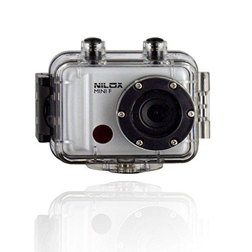 Nilox Mini F 13NXAKCO00001 - Vídeo Cámara de acción y deporte, sumergible, Full HD Alta definición 1080P, 2pulgadas, 30 FPS, ángulo de visión de 120 grados