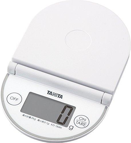 タニタ キッチンスケール はかり 折りたたみ デジタル 2kg 1g単位 KD-184N WH