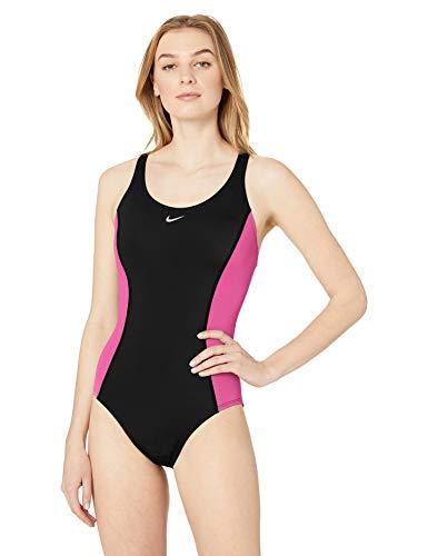 Nike Swim Women's Color Surge Powerback One Piece Swimsuit, fire Pink, X-Large