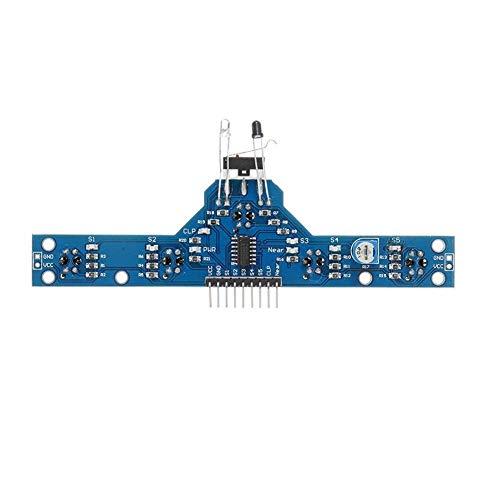 Z-LIANG Módulo de Sensor de rastreo 3pcs Cinco Camino de trazado Módulo 5 Funciones Accesorios Inteligentes de Control del vehículo módulo de Placa