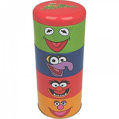 The Muppet Show - blikken doos set van 4 (Kermit der Frosch + Animal + Gonzo + Fozzie beer) geweldig en stabiel verpakt in een geschenkdoos!