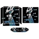 Sans Undertale Pixel Smile Novelty Cartoon PS4 Slim Whole Body Vinyl Decal Gaming Skin for Playstation 4 System Console and Controllers
