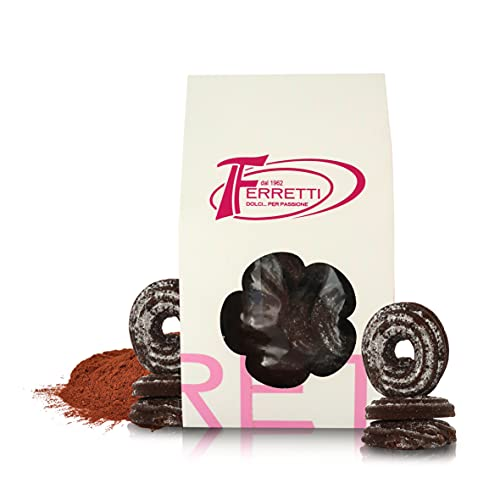 Galletas Vienesas con Cacao, Galletas Artesanales Horneadas en Italia, Paquete de 350 Gramos