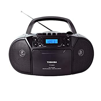 Toshiba TY-CKM39 K  Portable MP3 CD Cassette Boombox with Am/FM Stereo and Aux Input Black